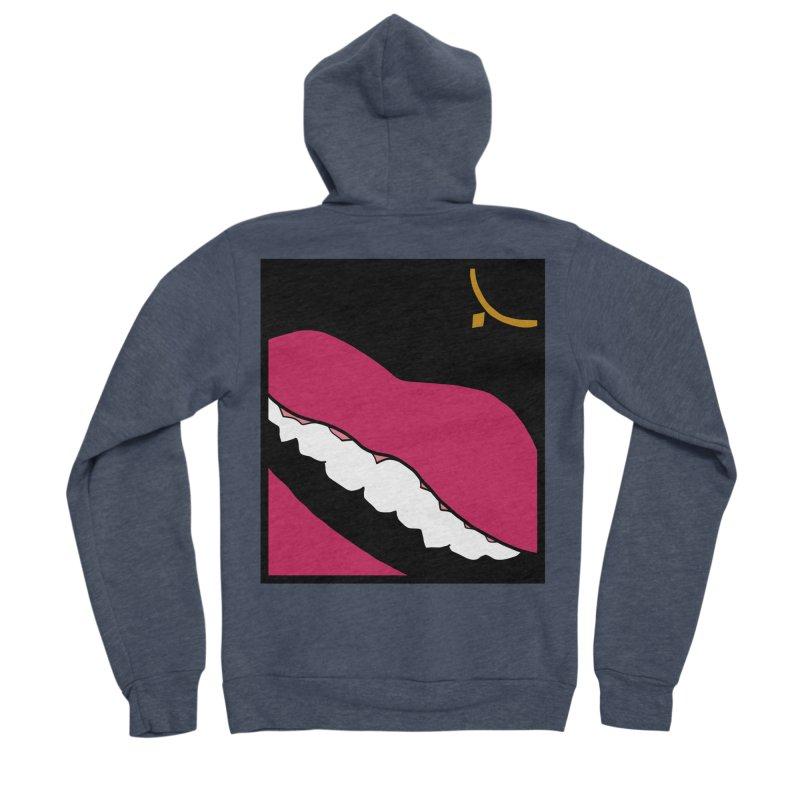 AHA lips Women's Sponge Fleece Zip-Up Hoody by Hello Siyi