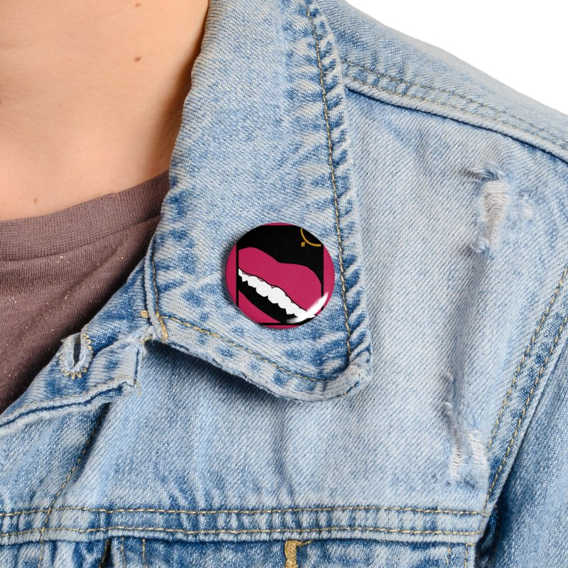 AHA lips Accessories Button by Hello Siyi