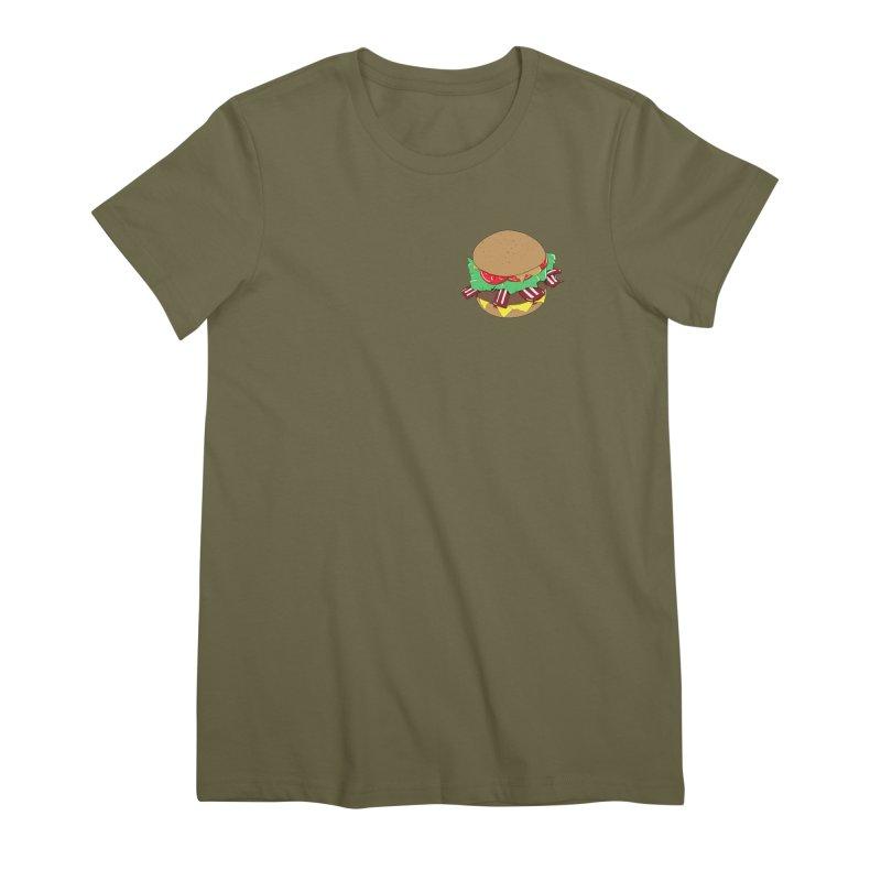 Burger (pocket) Women's Premium T-Shirt by Hello Siyi