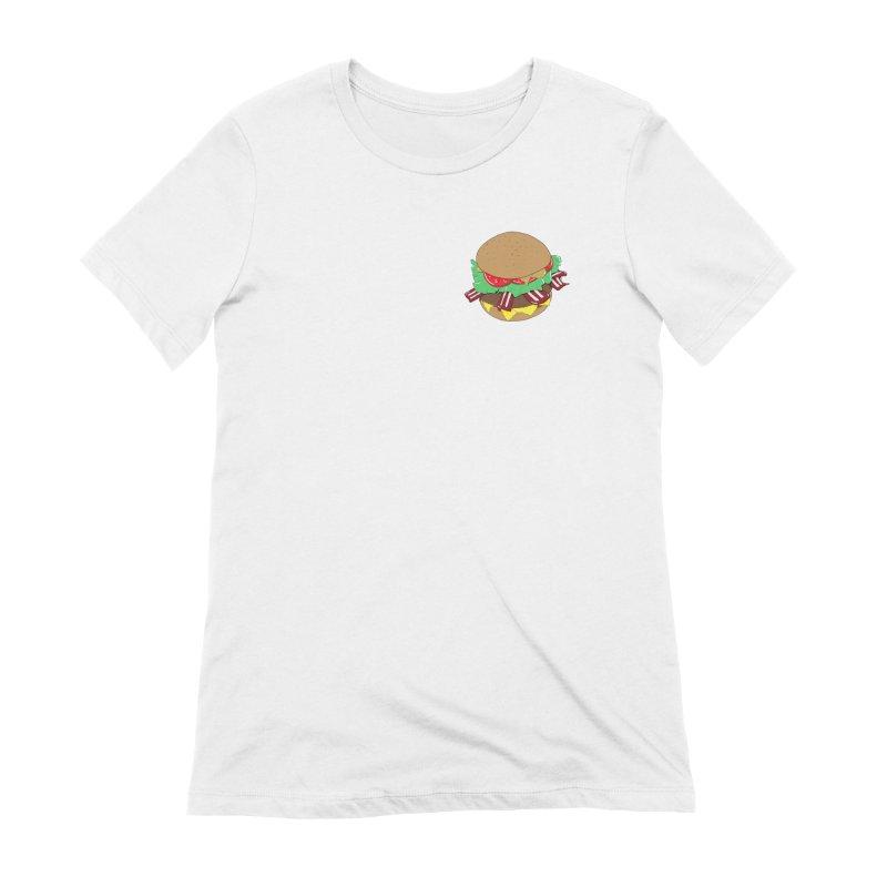 Burger (pocket) Women's Extra Soft T-Shirt by Hello Siyi