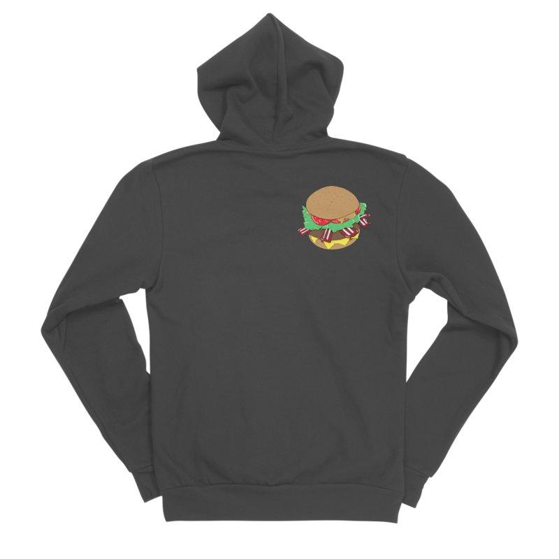 Burger (pocket) Men's Sponge Fleece Zip-Up Hoody by Hello Siyi