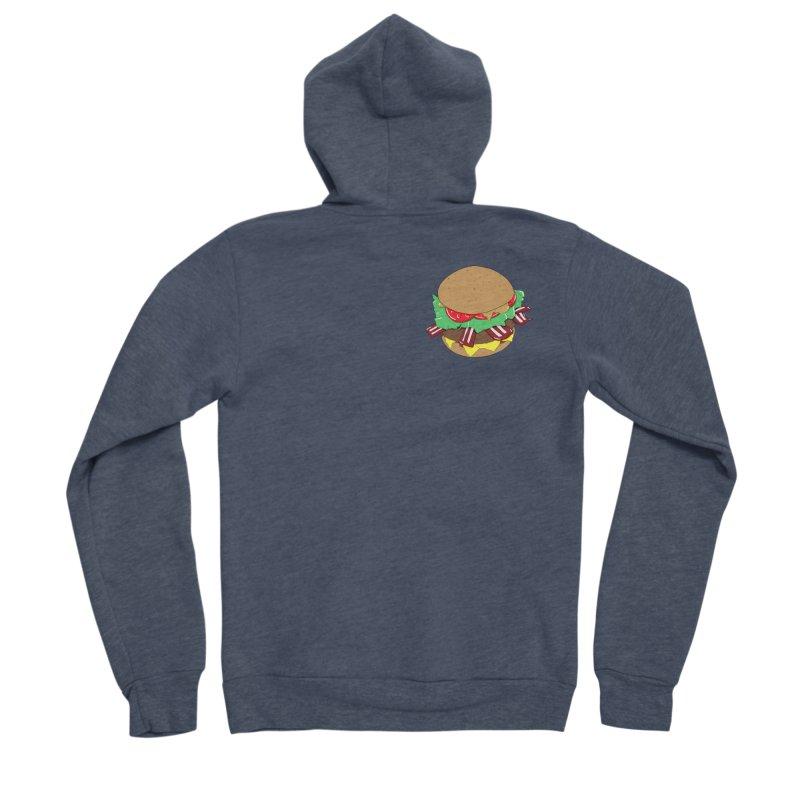 Burger (pocket) Women's Sponge Fleece Zip-Up Hoody by Hello Siyi