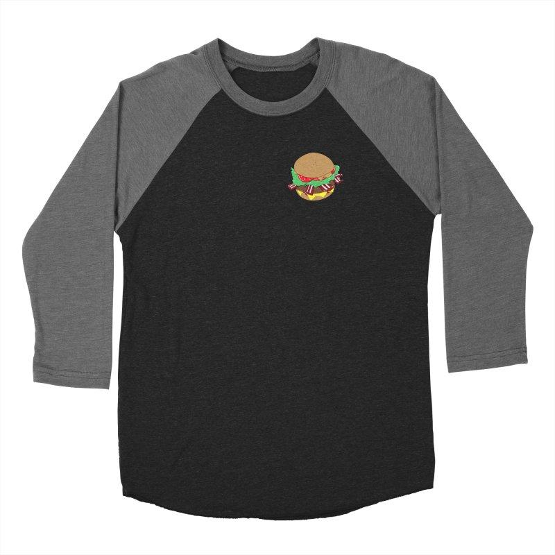 Burger (pocket) Women's Baseball Triblend Longsleeve T-Shirt by Hello Siyi