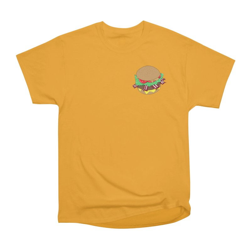 Burger (pocket) Women's Heavyweight Unisex T-Shirt by Hello Siyi