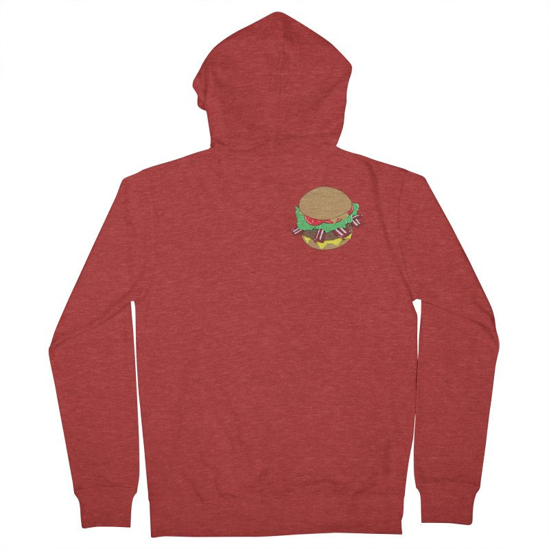 Burger (pocket) Women's French Terry Zip-Up Hoody by Hello Siyi