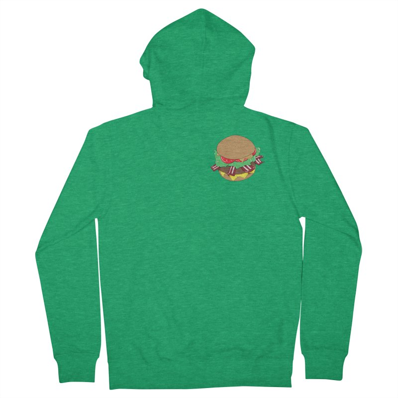 Burger (pocket) Men's French Terry Zip-Up Hoody by Hello Siyi