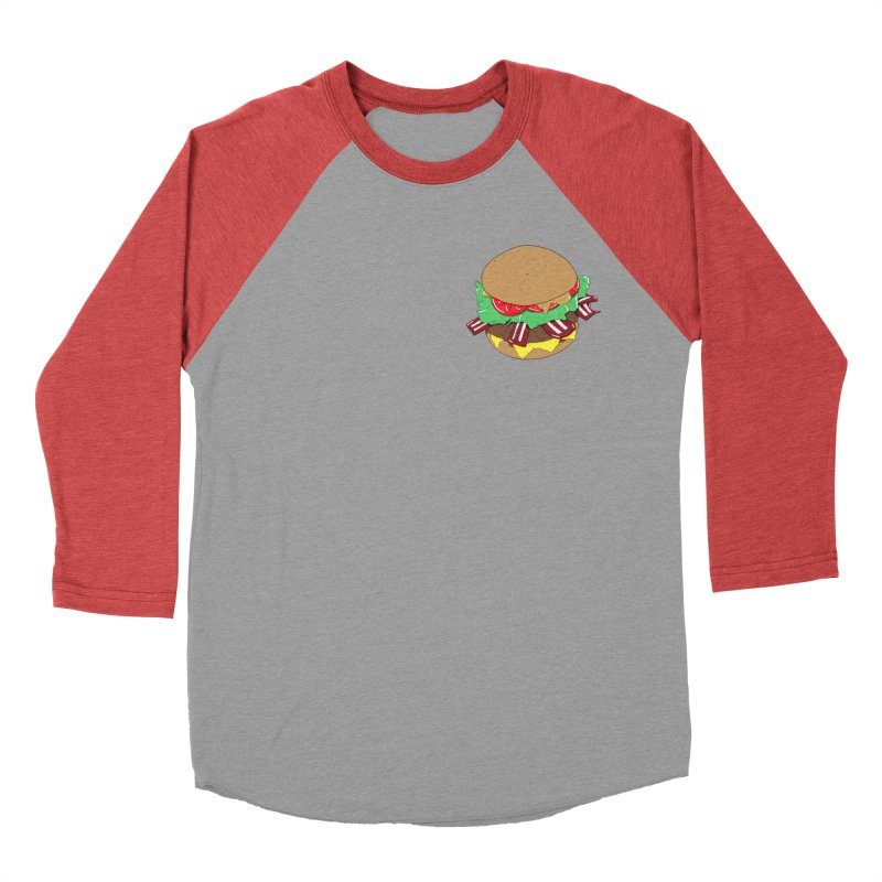 Burger (pocket) Men's Baseball Triblend Longsleeve T-Shirt by Hello Siyi