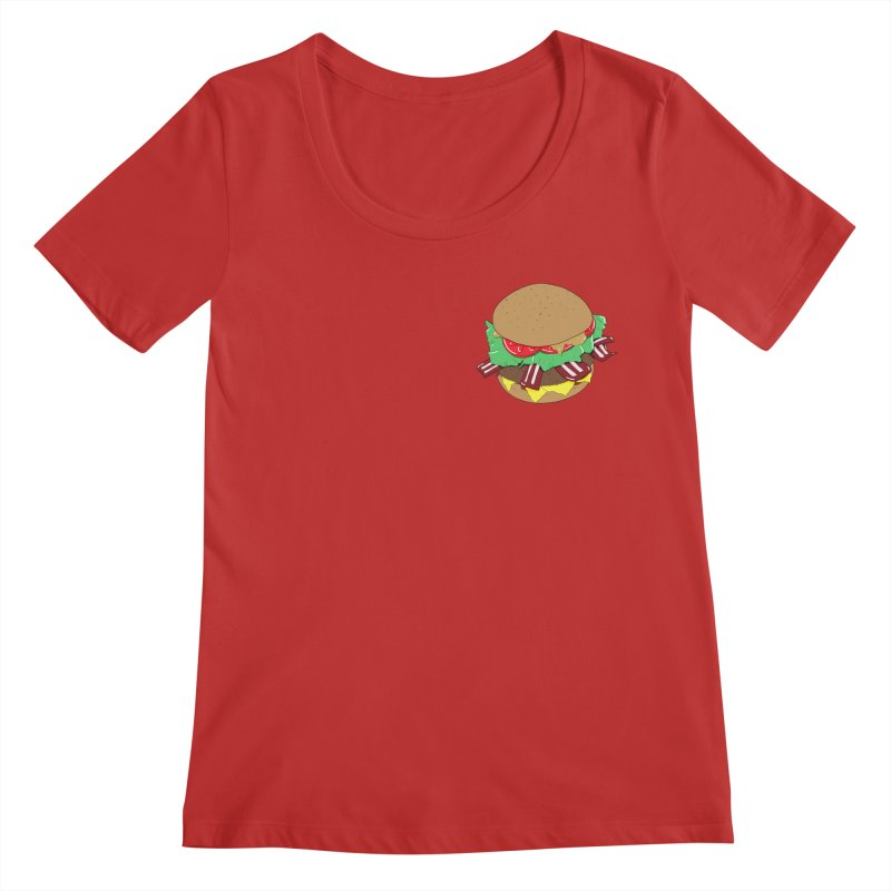 Burger (pocket) Women's Regular Scoop Neck by Hello Siyi