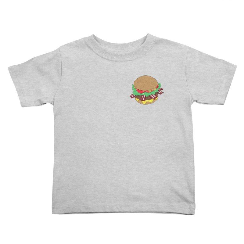 Burger (pocket) Kids Toddler T-Shirt by Hello Siyi