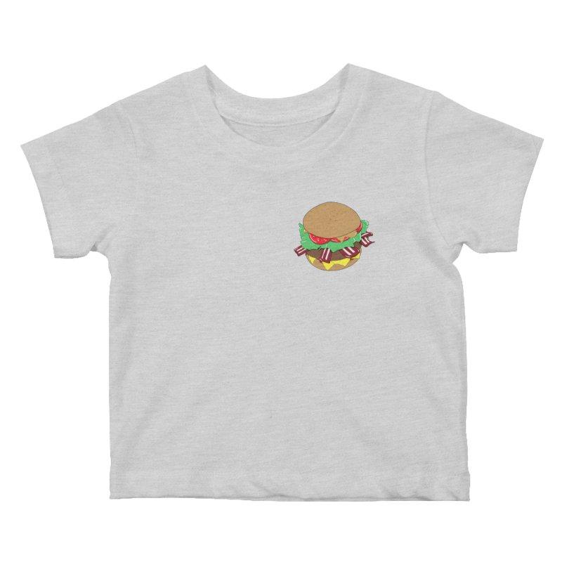 Burger (pocket) Kids Baby T-Shirt by Hello Siyi
