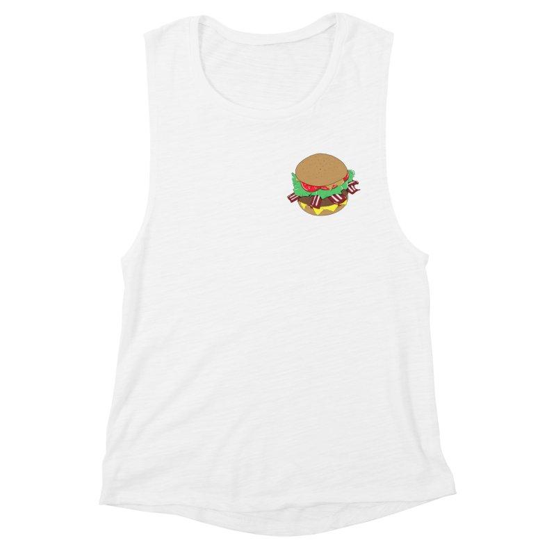 Burger (pocket) Women's Muscle Tank by Hello Siyi