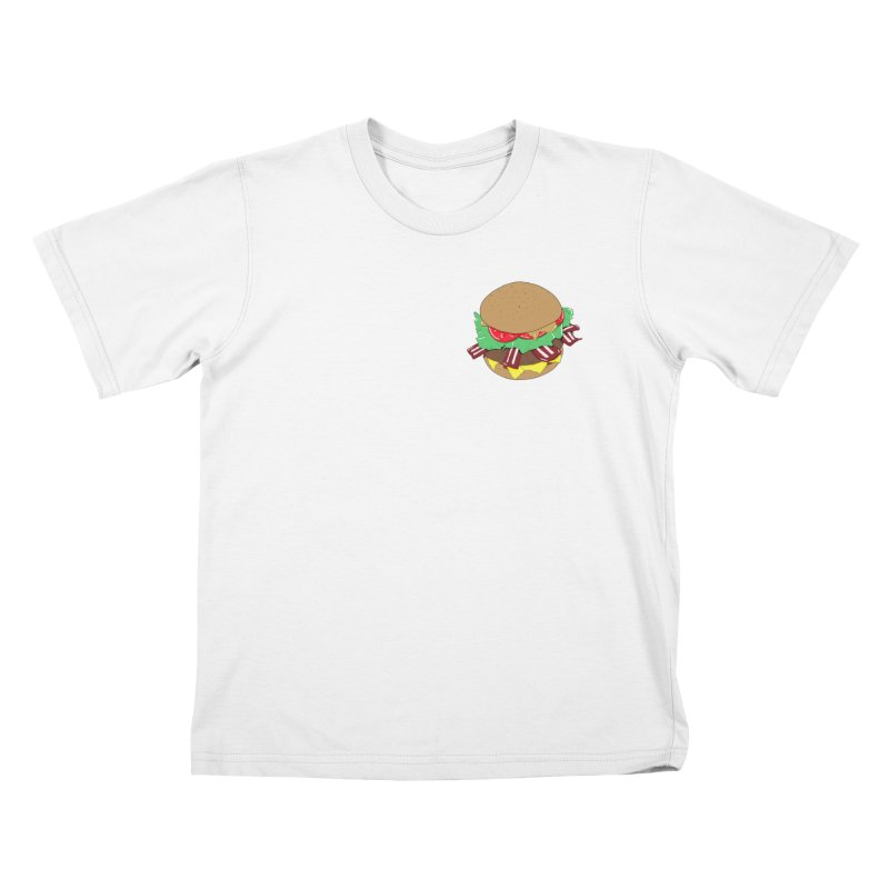 Burger (pocket) Kids T-Shirt by Hello Siyi