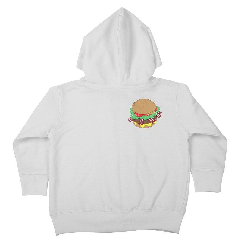 Burger (pocket) Kids Toddler Zip-Up Hoody by Hello Siyi