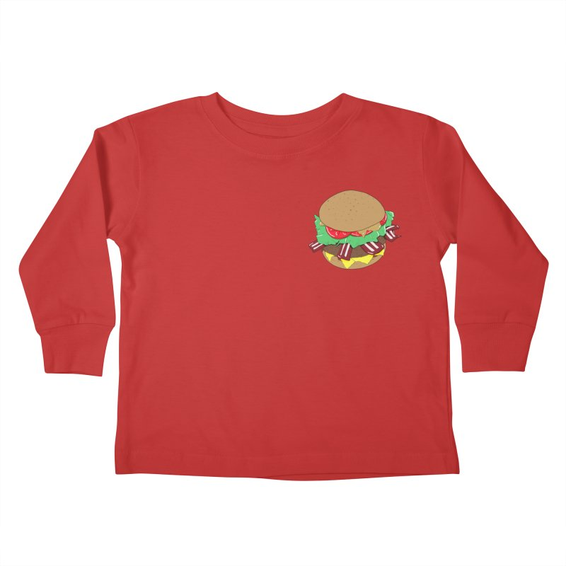 Burger (pocket) Kids Toddler Longsleeve T-Shirt by Hello Siyi