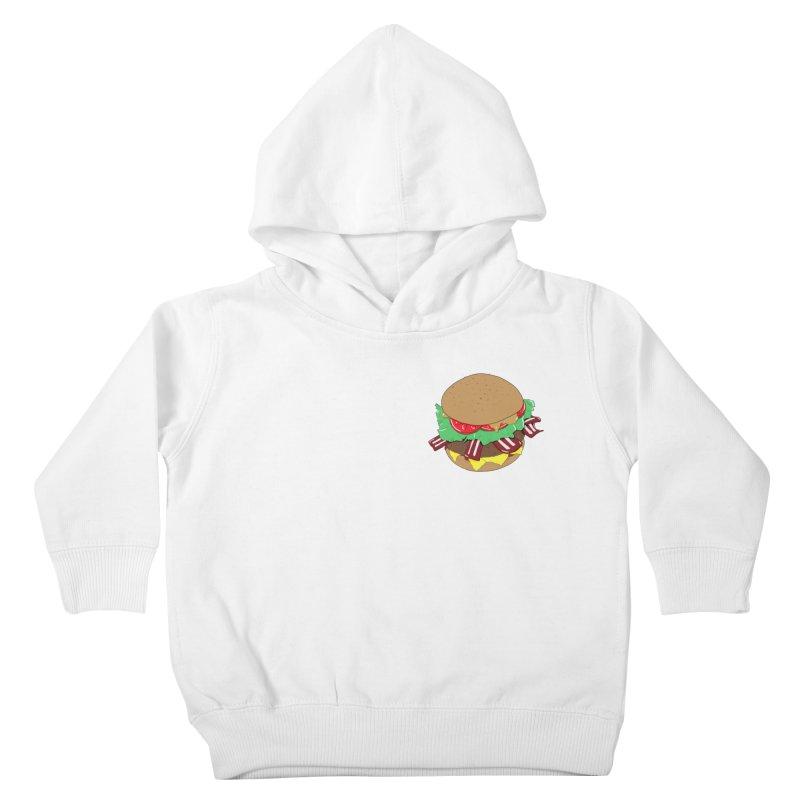 Burger (pocket) Kids Toddler Pullover Hoody by Hello Siyi