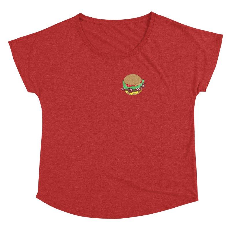 Burger (pocket) Women's Dolman Scoop Neck by Hello Siyi