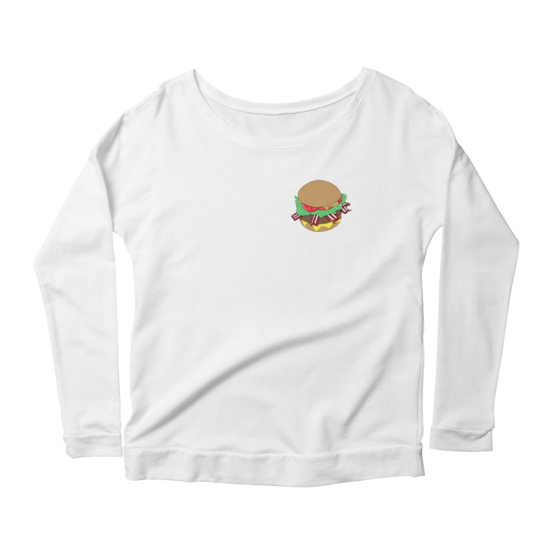 Burger (pocket) Women's Scoop Neck Longsleeve T-Shirt by Hello Siyi