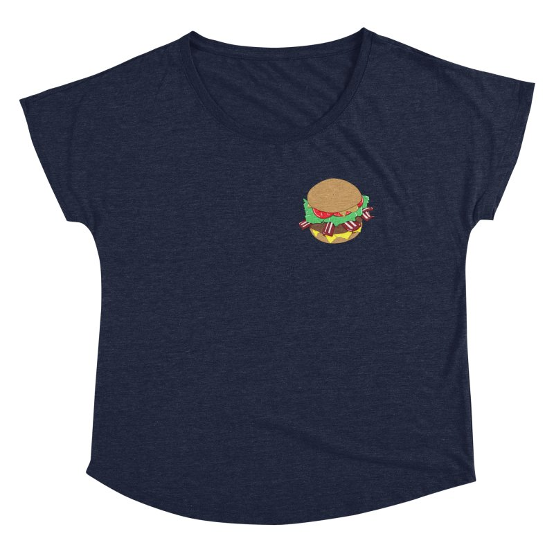 Burger (pocket) Women's Dolman Scoop Neck by Hello Siyi