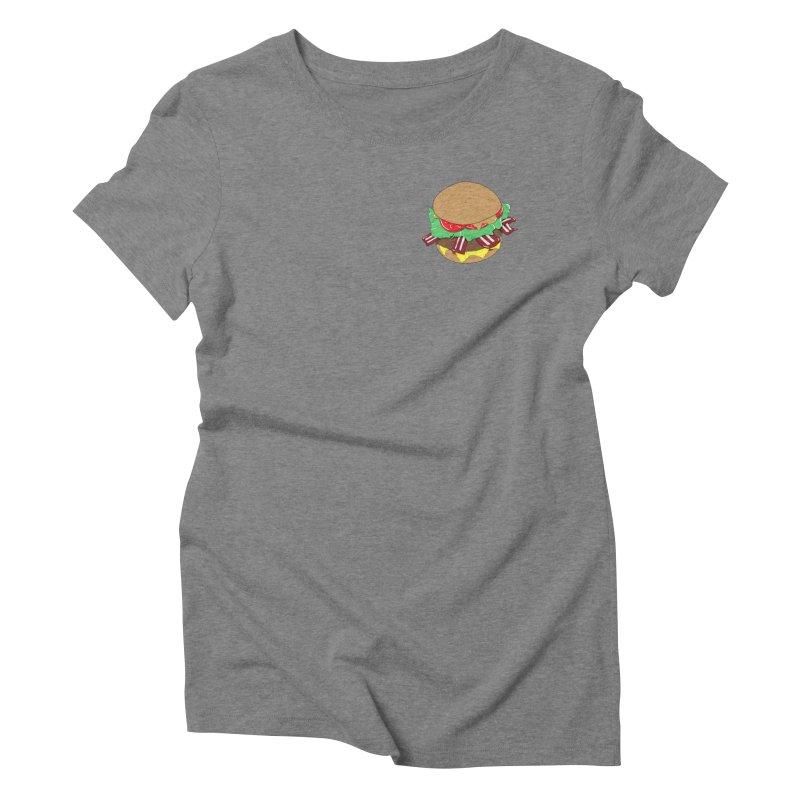 Burger (pocket) Women's Triblend T-Shirt by Hello Siyi