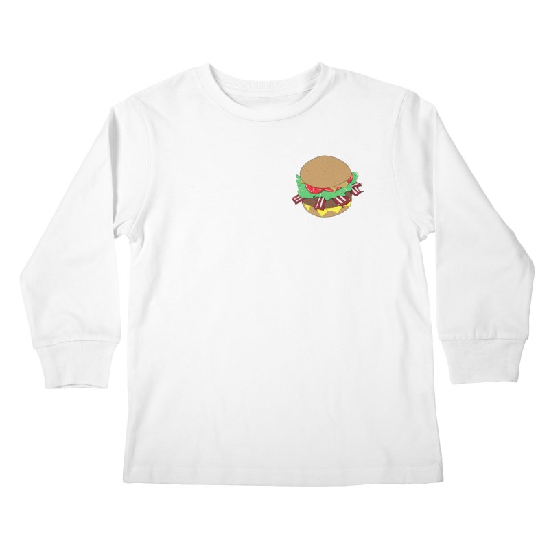 Burger (pocket) Kids Longsleeve T-Shirt by Hello Siyi