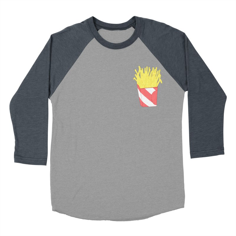 Fries (pocket) Men's Baseball Triblend Longsleeve T-Shirt by Hello Siyi
