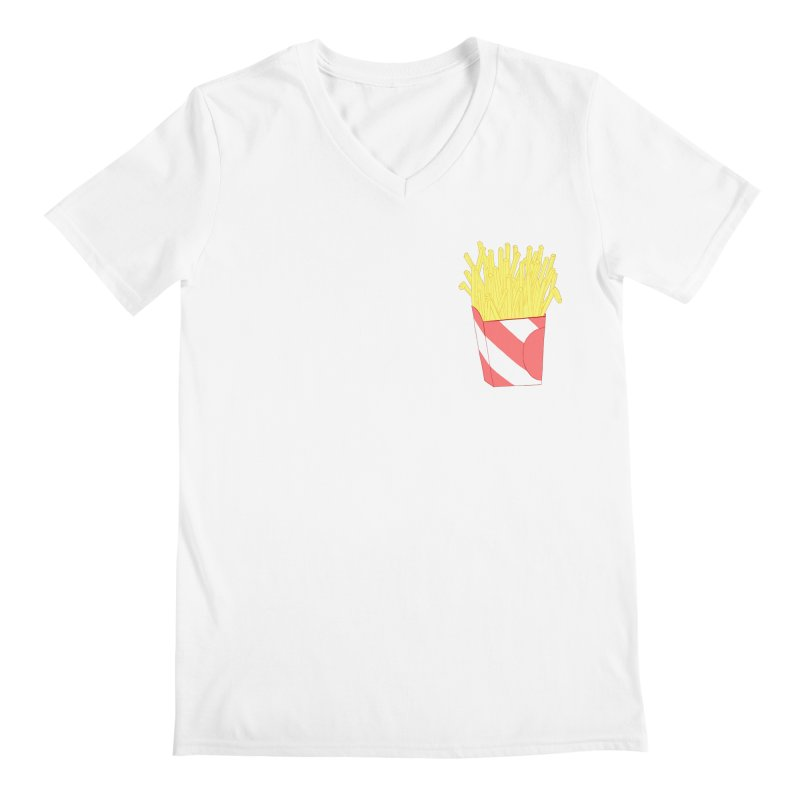 Fries (pocket) Men's Regular V-Neck by Hello Siyi