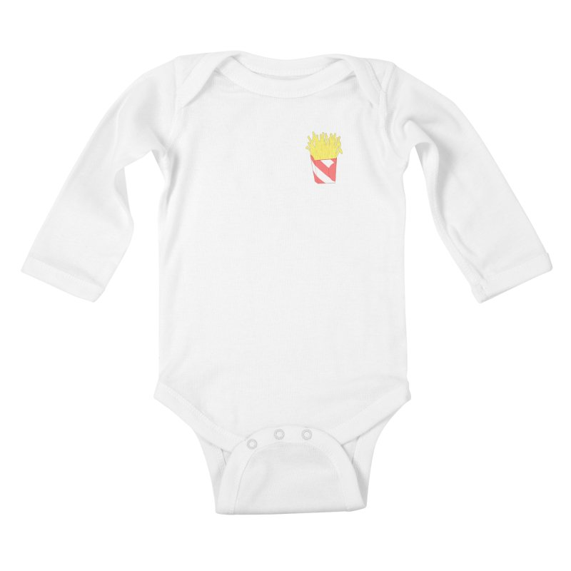 Fries (pocket) Kids Baby Longsleeve Bodysuit by Hello Siyi