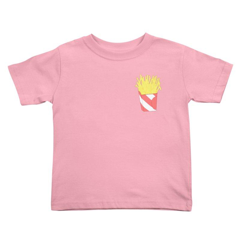 Fries (pocket) Kids Toddler T-Shirt by Hello Siyi