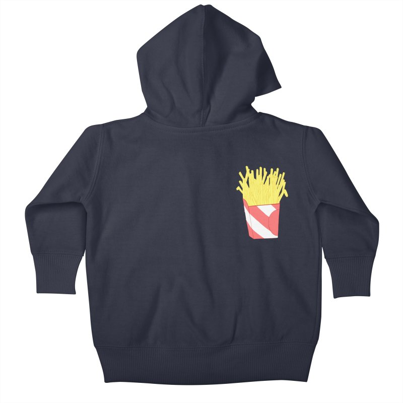 Fries (pocket) Kids Baby Zip-Up Hoody by Hello Siyi