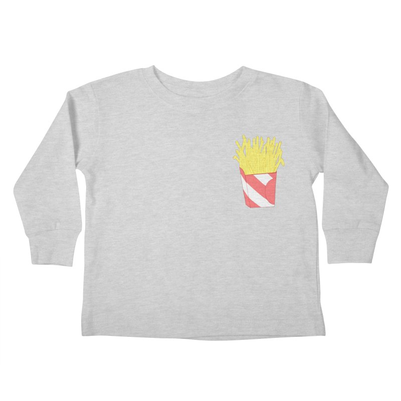 Fries (pocket) Kids Toddler Longsleeve T-Shirt by Hello Siyi