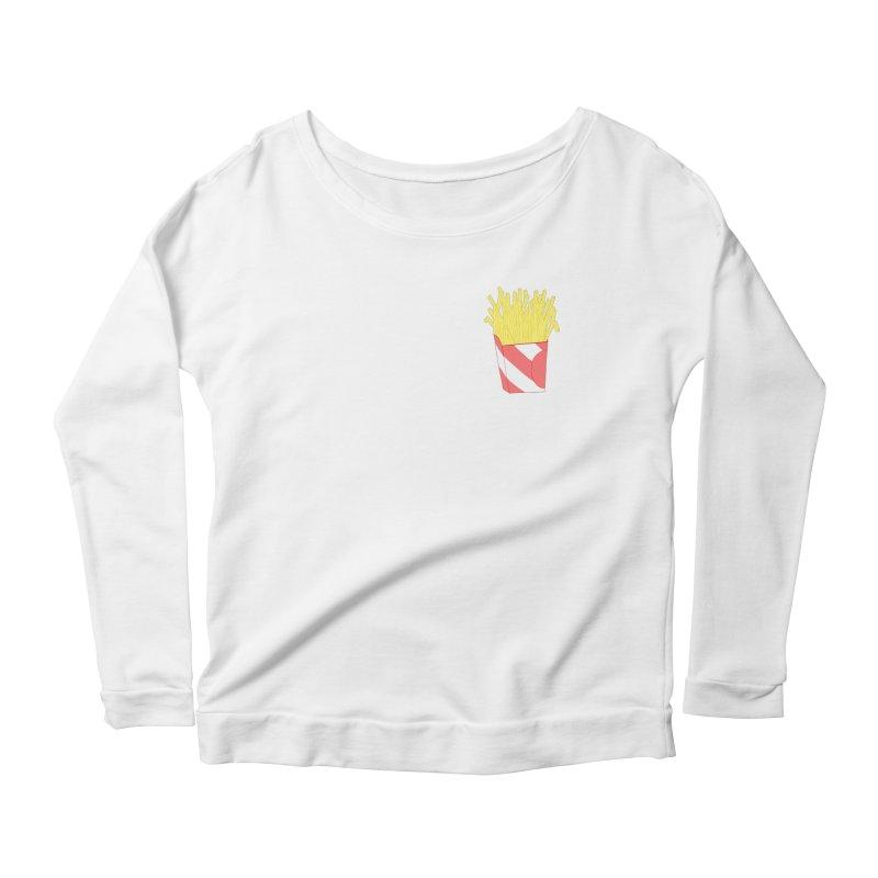 Fries (pocket) Women's Scoop Neck Longsleeve T-Shirt by Hello Siyi