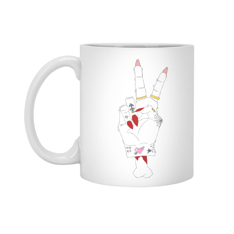 Peace, love and tattoos Accessories Mug by Hello Siyi