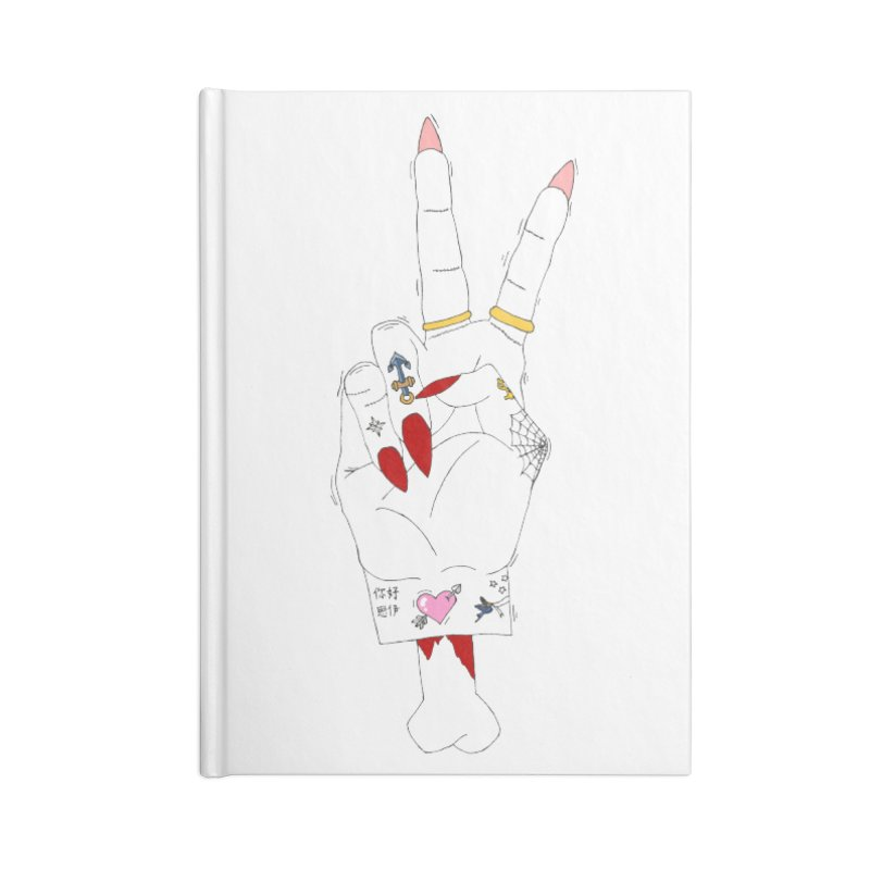 Peace, love and tattoos Accessories Notebook by Hello Siyi