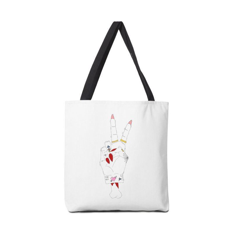 Peace, love and tattoos Accessories Bag by Hello Siyi