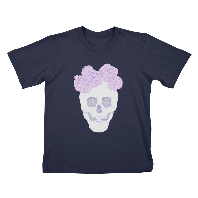Crown of Peonies Kids T-Shirt by Hello Siyi
