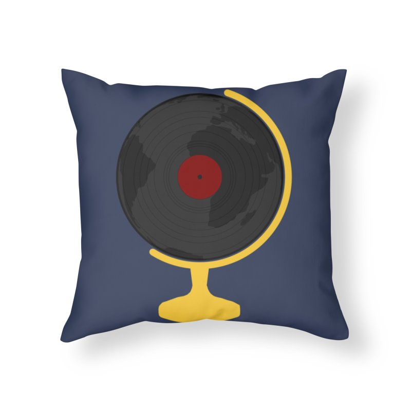 World Music Home Throw Pillow by Hello Siyi