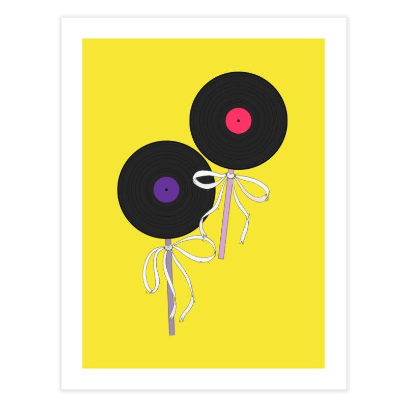 Vinyl Lollipops Home Fine Art Print by Hello Siyi