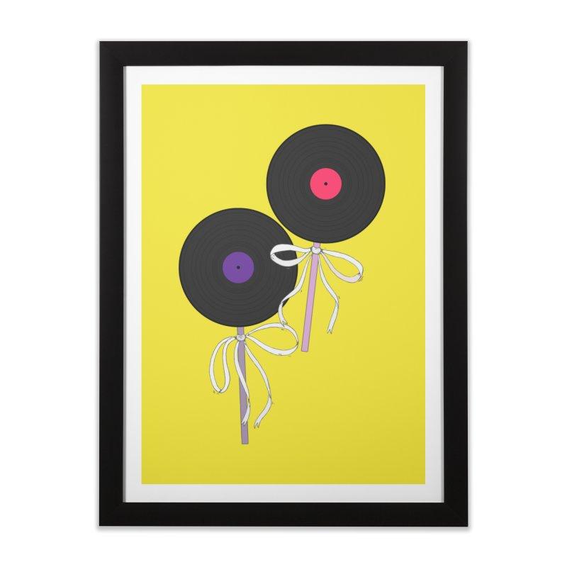 Vinyl Lollipops Home Framed Fine Art Print by Hello Siyi