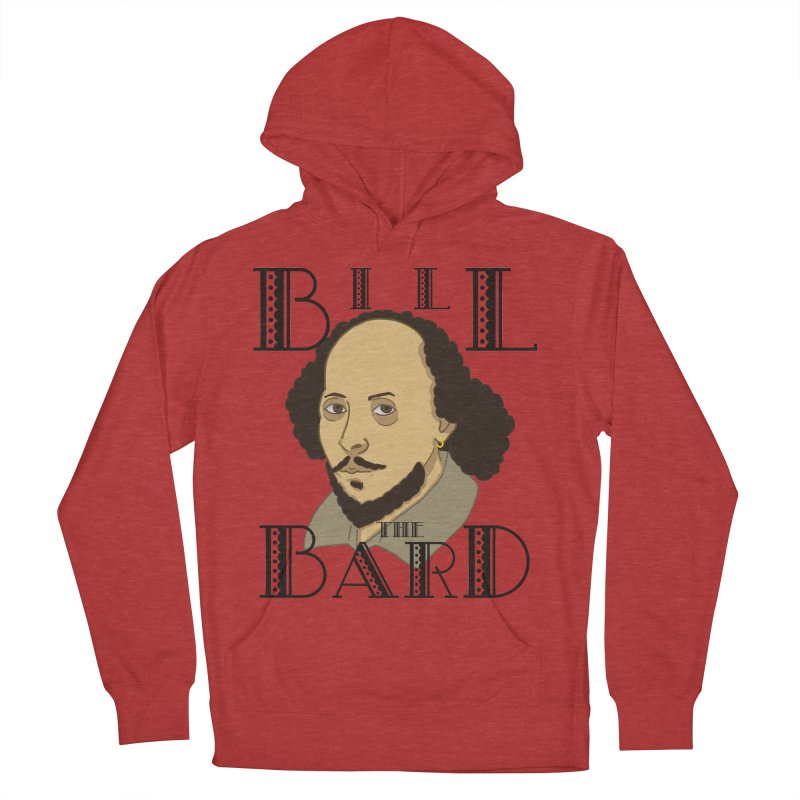 Bill, the Bard Men's French Terry Pullover Hoody by Hello Siyi