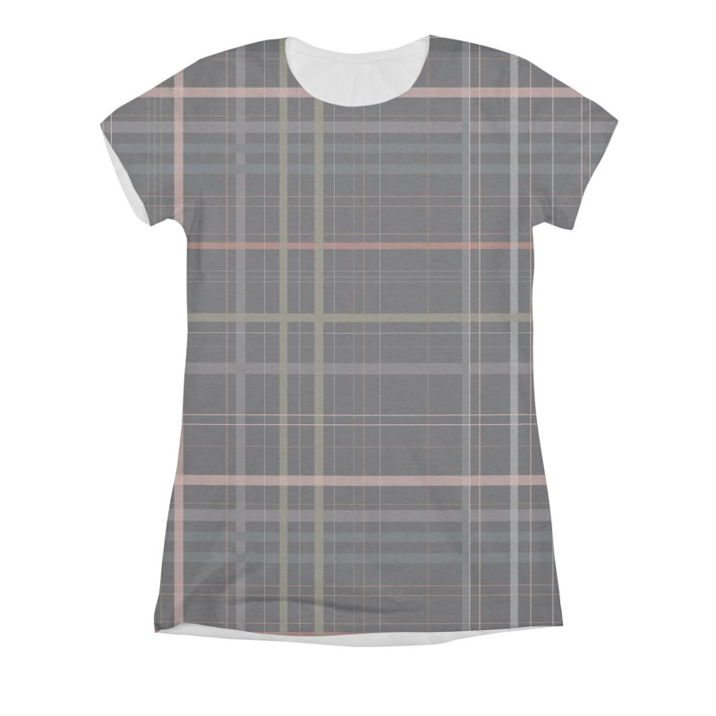 A very gloomy plaid Women's Triblend All Over Print by Hello Siyi