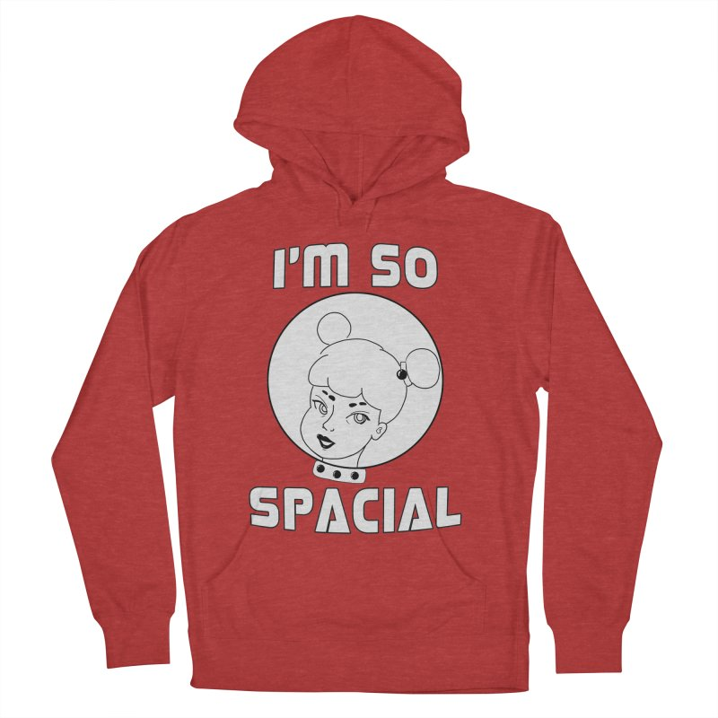 I'm so spacial (gray version) Women's French Terry Pullover Hoody by Hello Siyi