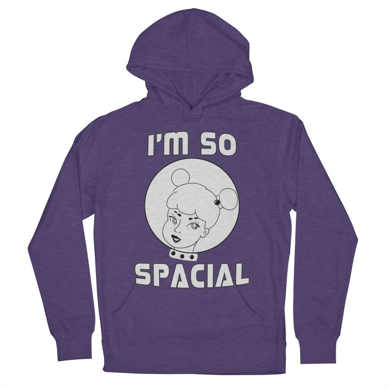 I'm so spacial (gray version) Men's French Terry Pullover Hoody by Hello Siyi