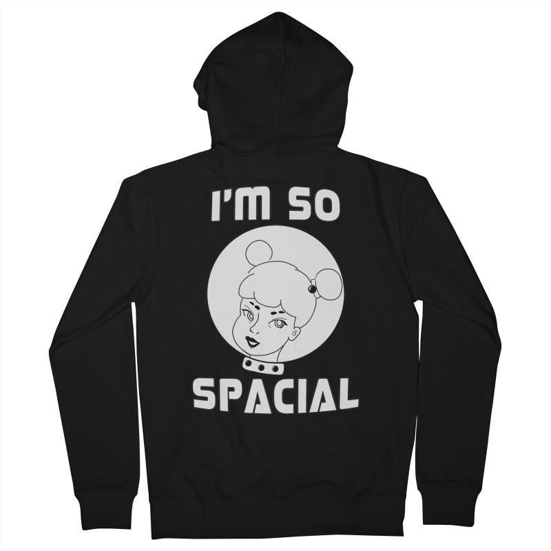 I'm so spacial (gray version) Women's French Terry Zip-Up Hoody by Hello Siyi