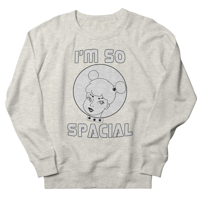 I'm so spacial (gray version) Women's French Terry Sweatshirt by Hello Siyi