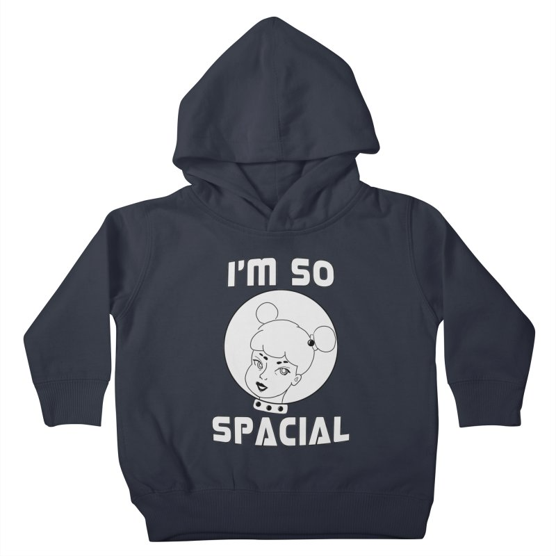 I'm so spacial (gray version) Kids Toddler Pullover Hoody by Hello Siyi