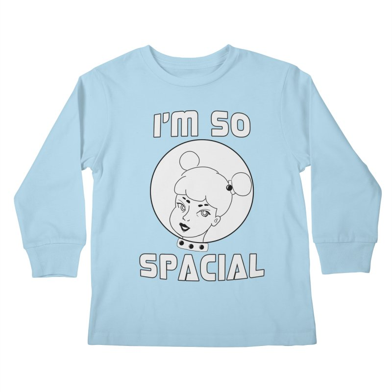 I'm so spacial (gray version) Kids Longsleeve T-Shirt by Hello Siyi