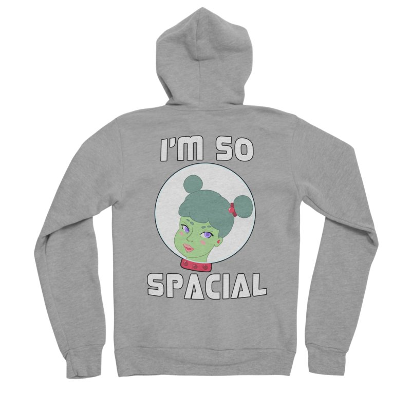 I'm so spacial (color version) Women's Sponge Fleece Zip-Up Hoody by Hello Siyi