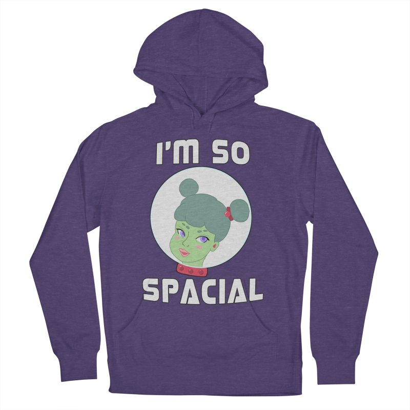 I'm so spacial (color version) Women's French Terry Pullover Hoody by Hello Siyi