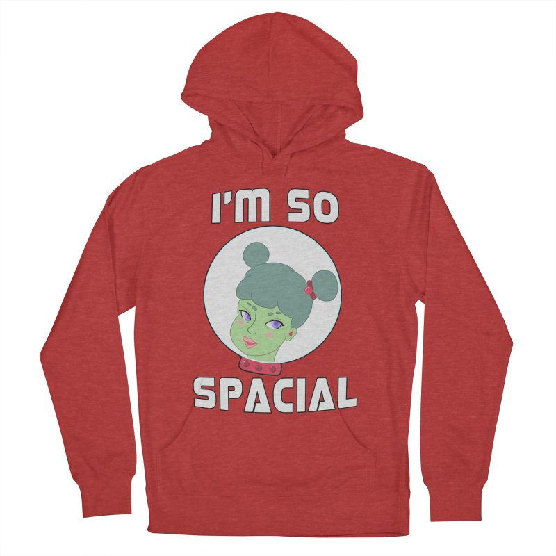 I'm so spacial (color version) Men's French Terry Pullover Hoody by Hello Siyi