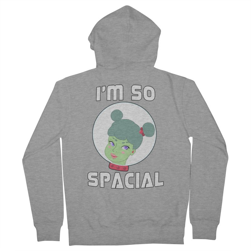 I'm so spacial (color version) Women's French Terry Zip-Up Hoody by Hello Siyi